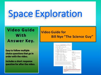 Bill Nye:S5E2 Space Exploration video sheet