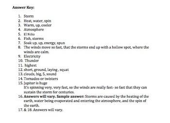 Bill nye video storms worksheet
