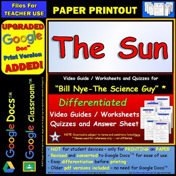 differentiated video worksheet quiz ans for bill nye the sun. Black Bedroom Furniture Sets. Home Design Ideas