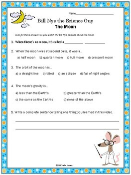 Moon Video Response Form - Bill Nye the Science Guy