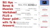 Bill Nye The Science Guy- Bones and Muscle Worksheet Plus
