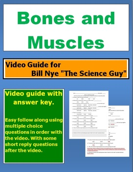 """Bill Nye """"The Science Guy"""" Bones and Muscles video follow along sheet."""
