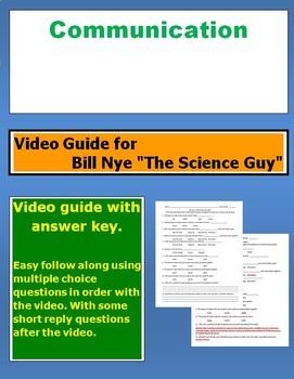 "Bill Nye ""The Science Guy"" Communication video follow along sheet."