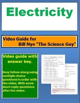 "Bill Nye ""The Science Guy"" Electricity video follow along sheet."