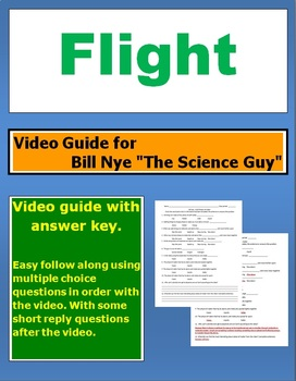 "Bill Nye ""The Science Guy"" Flight video follow along sheet."