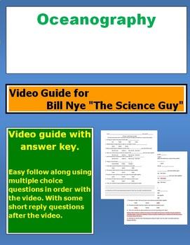 "Bill Nye ""The Science Guy"" Oceanography video follow along sheet."