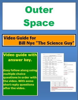 "Bill Nye ""The Science Guy"" Outer Space video follow along sheet."