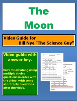 "Bill Nye ""The Science Guy"" The Moon video follow along sheet."