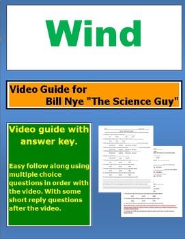 """Bill Nye """"The Science Guy"""" Wind video follow along sheet."""