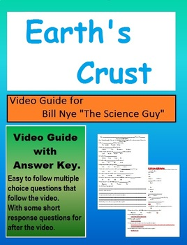 Bill Nye:S1E2 The Earth's Crust Plate tectonics video sheet (with answer key)