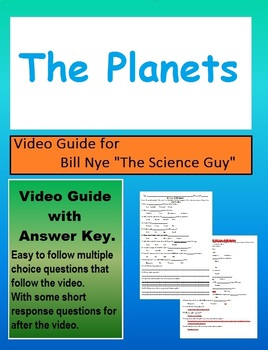 Bill Nye: S3E1 The Planets (Solar system) video follow along (with answer key)