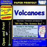 Video Guide, Quiz for Bill Nye – Volcanoes * PRINTING Google Doc™/pdf