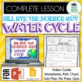 Bill Nye WATER CYCLE Video Guide, Quiz, Sub Plan, Worksheets, No Prep Lesson