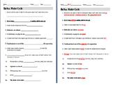 Bill Nye Water Cycle Video Guide Sheet