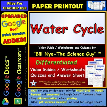 Bill Nye - Water Cycle – Worksheet, Answer... by Star Materials ...
