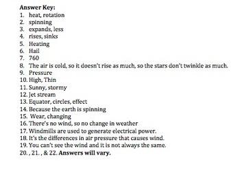Bill Nye Wind Video Worksheet