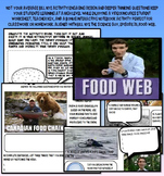 Bill Nye food web food chain ecology worksheet key interactive notebook jr high