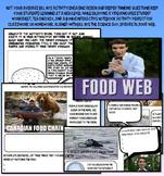 Bill Nye food web food chain ecology worksheet key interactive notebook jr high