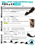 Bill Nye the Science Guy : BIRDS (animal video worksheet)