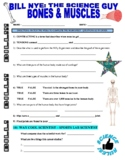 Bill Nye the Science Guy : BONES AND MUSCLES (human body video worksheet)