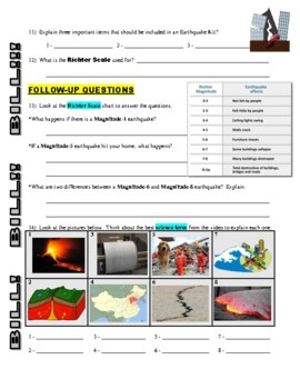 Bill Nye the Science Guy : EARTHQUAKES (Earth Science video worksheet)