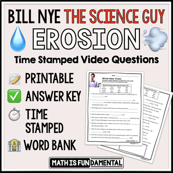 Bill Nye the Science Guy Erosion Video Questions with Word