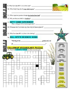 bill nye the science guy farming stem video worksheet tpt. Black Bedroom Furniture Sets. Home Design Ideas