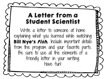 Bill Nye the Science Guy: Fish - Video Journal