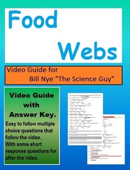 Bill Nye the Science Guy - Food Webs -  Video follow along sheet