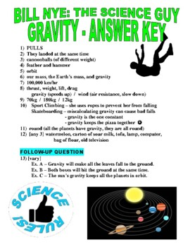 Bill Nye the Science Guy : GRAVITY (forces & motion video ...