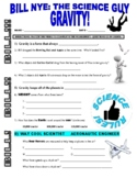 Bill Nye the Science Guy : GRAVITY  (forces & motion video worksheet)