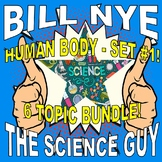 Bill Nye the Science Guy : HUMAN BODY Set 1 (6 Video Worksheets Bundle)