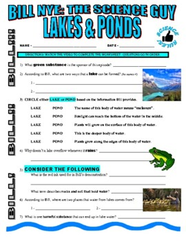 Bill nye the science guy lakes and ponds video worksheet tpt bill nye the science guy lakes and ponds video worksheet urtaz Choice Image