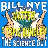 Bill Nye the Science Guy : MATTER (5 video worksheet mini-bundle)