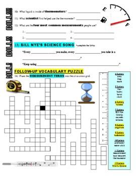 Bill Nye the Science Guy : MEASUREMENT (STEM video worksheet)