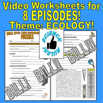 Bill Nye the Science Guy : OUR PLANET Bundle (science / social studies 8 sheets)