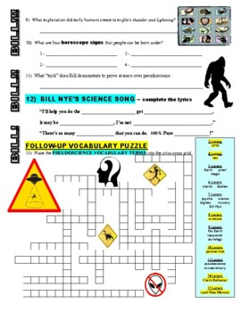 Bill Nye the Science Guy : PSEUDOSCIENCE (video worksheet)