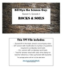 Bill Nye the Science Guy: Rocks and Soil Video Q&A Worksheet