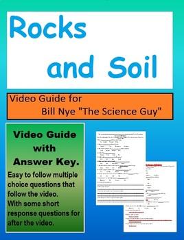 Bill Nye the Science Guy Rocks and Soil Video follow along sheet