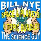 Bill Nye the Science Guy SPACE & PLANETS (6 video worksheets mini-bundle)