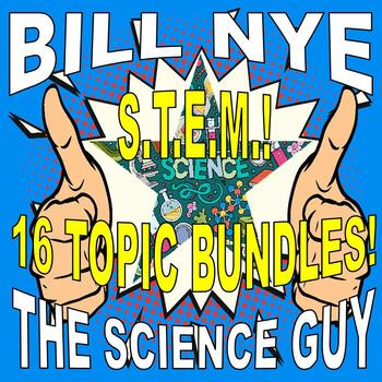 Bill Nye the Science Guy : STEM Bundle (Science & Math 16 video worksheets)
