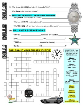 Bill Nye the Science Guy : TIME (STEM video worksheet)