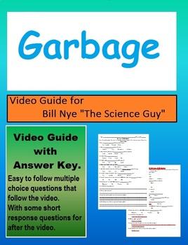 Bill Nye: S1E13 - Garbage-Trash Video Sheet. Recycle Reduce Reuse (w/Key)