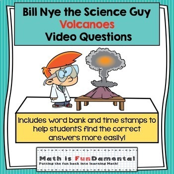 Bill Nye the Science Guy Volcanoes Video Questions w/ Word