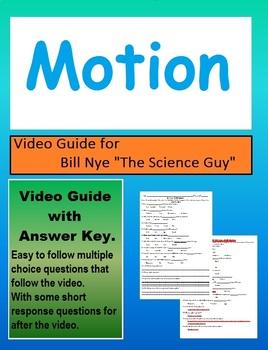 Bill Nye the science guy: Motion video follow along sheet