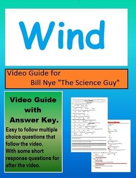 Bill Nye wind, air currents, weather video follow along sheet.