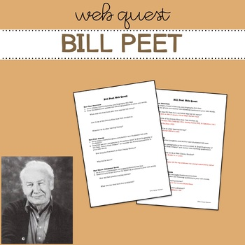 Bill Peet - Web Quest