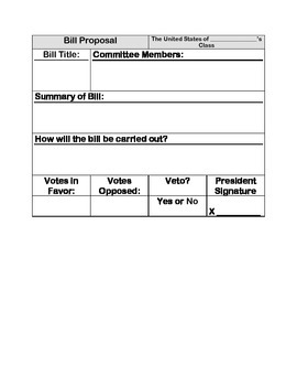 Bill Proposal Template