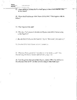 Bill and Ted Watchalong Packet and Reflection Writing Activity
