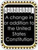 Bill of Rights (10 Amendments) Posters